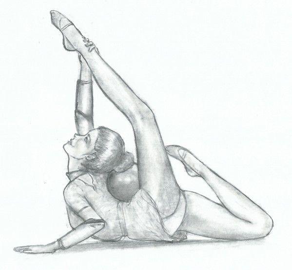 Dessin d 39 une danseuse de grs dessin en 2019 drawings dancing drawings et dancer drawing - Dessin gymnaste ...
