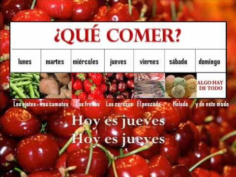 tune frere jacques are you learning how to say the food words in spanish this song is popular with spanish teachers but i have always found it
