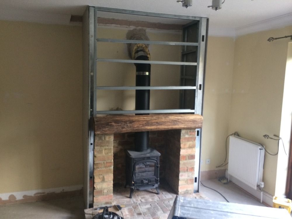 building a fireplace into an existing chimney cambridge stove