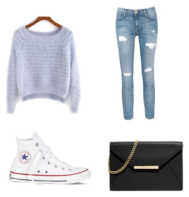 """Untitled #54"" by gymnastbug on Polyvore featuring Current/Elliott, Converse and MICHAEL Michael Kors"