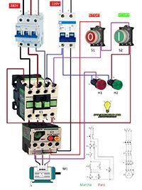 marcha paro trifasico motor 380v potencia 220v maniobra ... motor for power kraft 220v wiring diagram #2