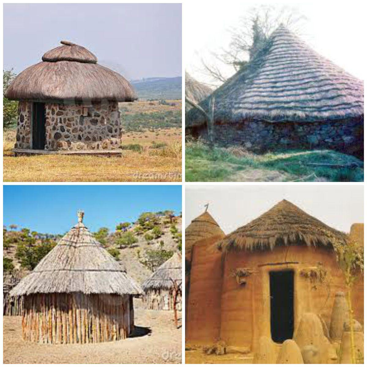 Se puede observar los diferentes tipos de casas africanas for Tipos de tejados de casas