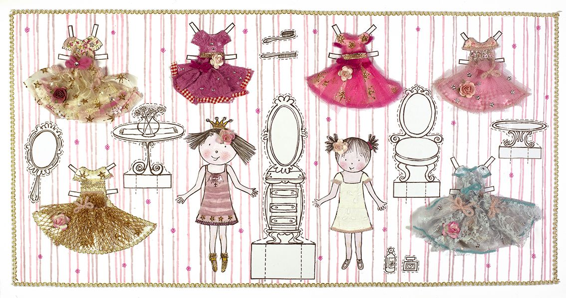 Bij het Prinsessenboek voor lieve meisjes Aankleedpopjes