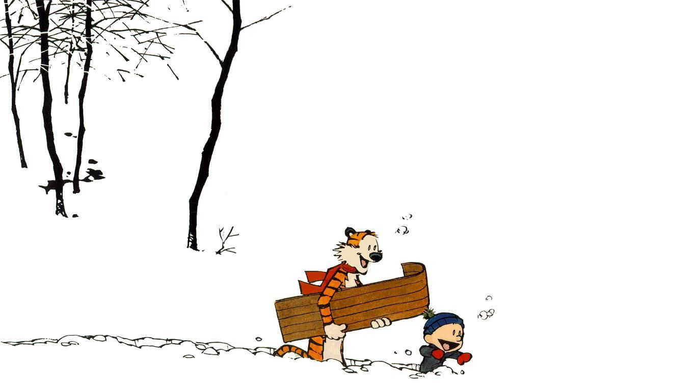 Calvin And Hobbes 1366x768 Wallpaper Calvin And Hobbes Calvin And Hobbes Christmas Calvin And Hobbes Wallpaper