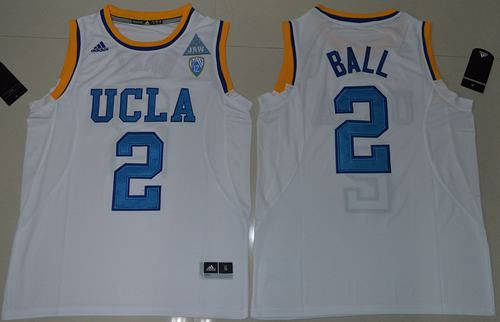 best website 48599 916d9 Bruins #2 Lonzo Ball White Authentic Basketball Stitched ...