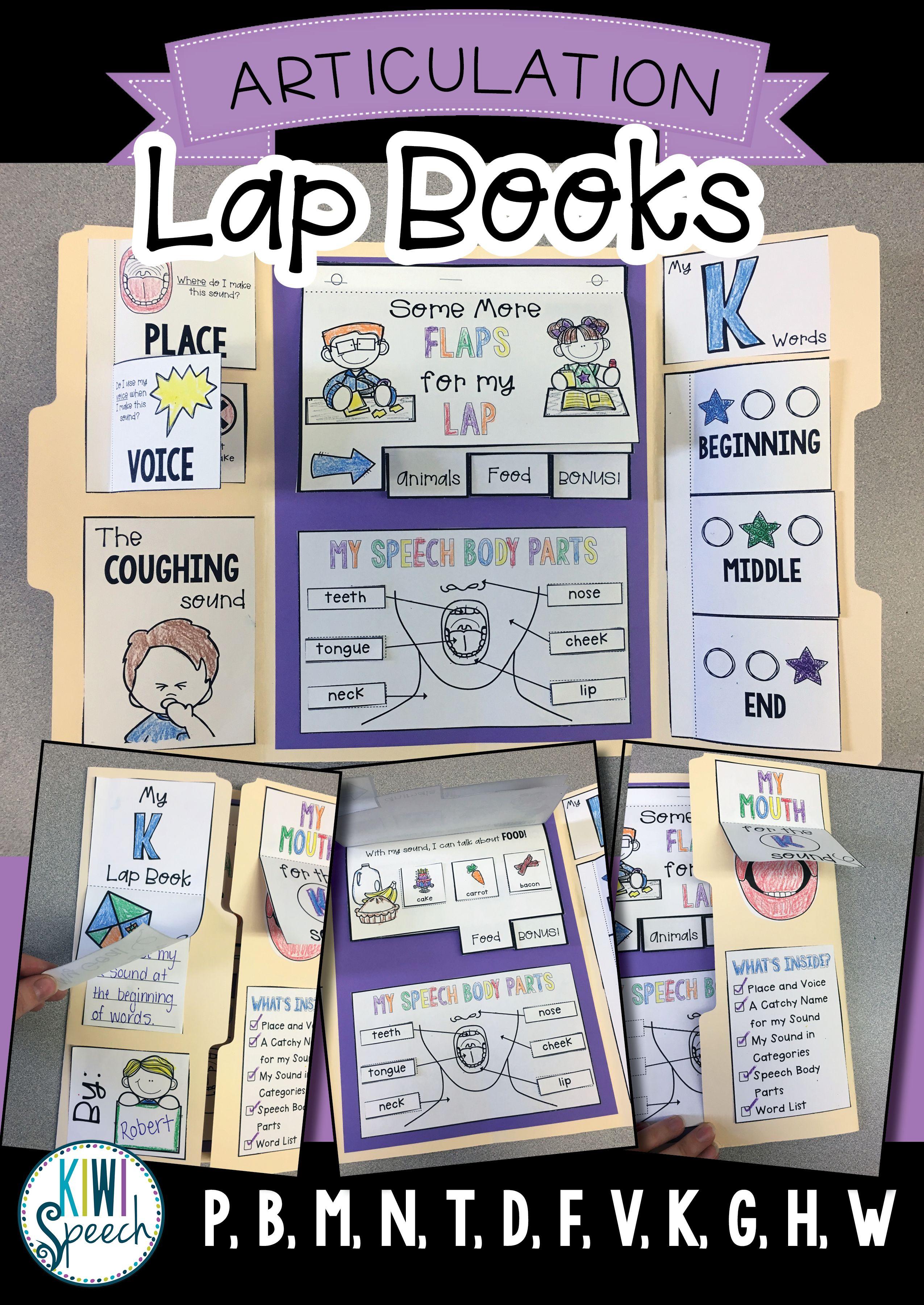 Articulation Lap Books