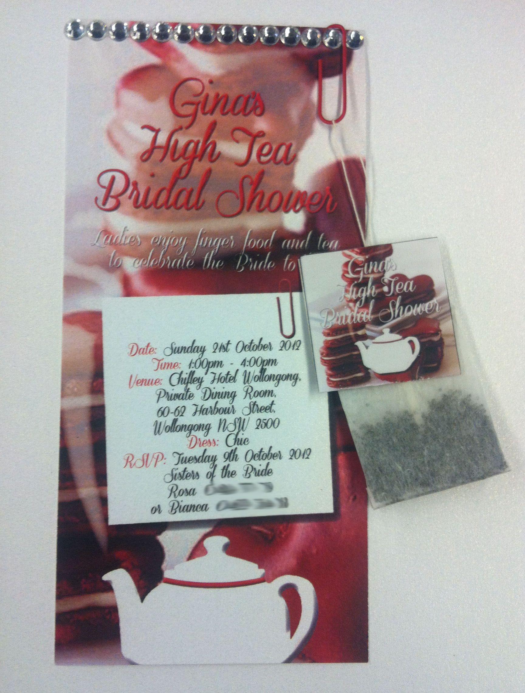 Unique bridal showerkitchen tea invitations to suit your theme by invitation design stopboris Gallery