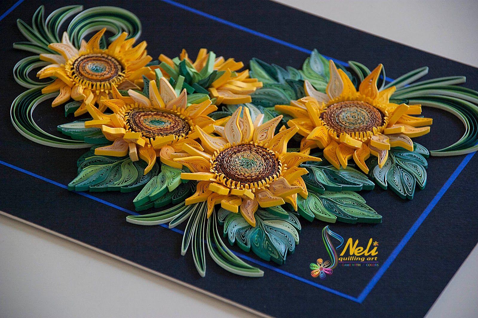 Neli Quilling Art Sunflowers
