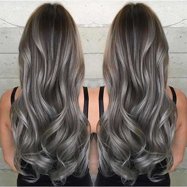 Do you want some serious hair inspiration well you are on the smoky brunette and luxious wavy hair by janai hartt gray hair granny hair a urmus Choice Image