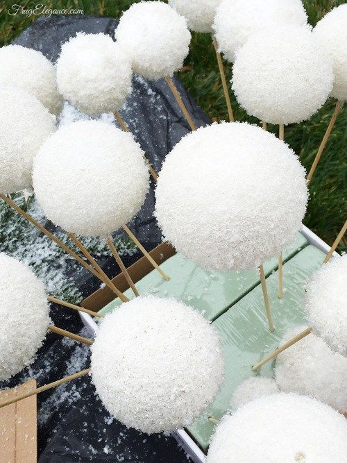 Best Faux (Fake) Snowballs - FrugElegance