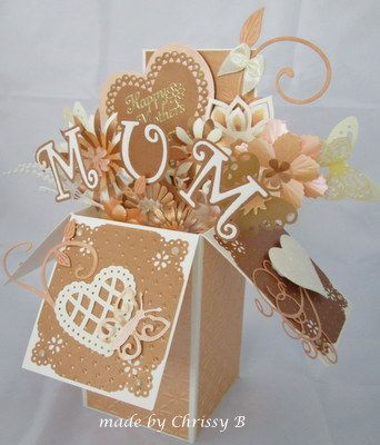 Mothers Day Box Card Pop Up Box Cards Exploding Box Card Box Cards Tutorial