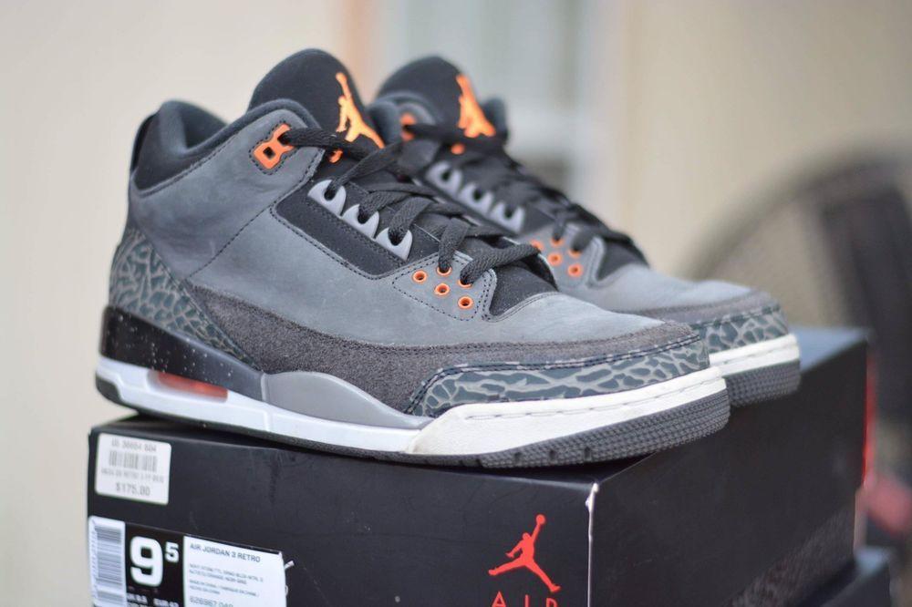 buy online ea2c9 569af Nike Air Jordan Retro 3 III Fear Pack Size 9.5 Black Orange 626967 040   fashion  clothing  shoes  accessories  mensshoes  athleticshoes (ebay link)