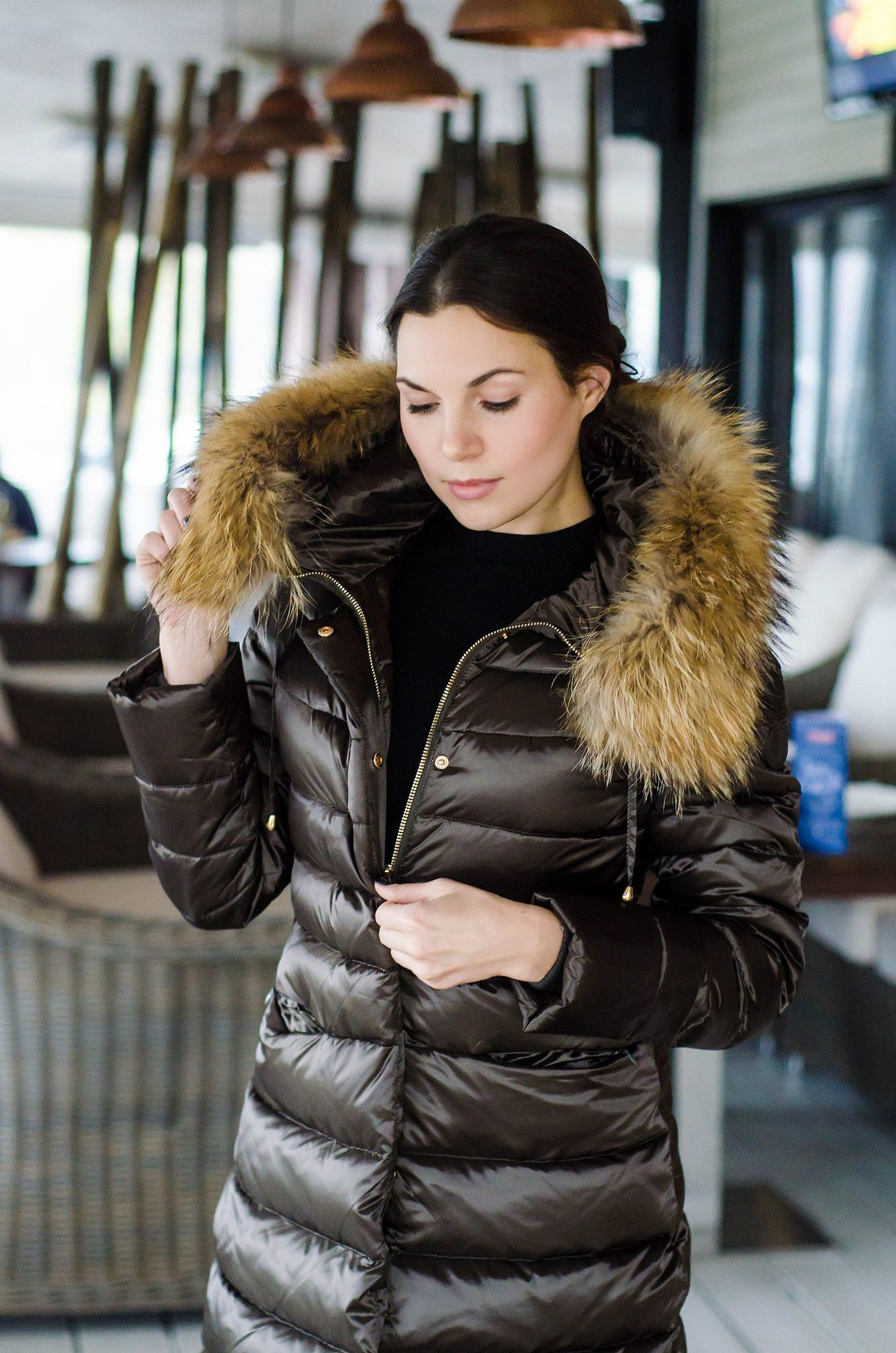 Fur hood Jackets, Jackets for women, Jacket style
