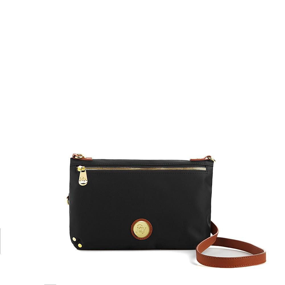 Joy Mangano RFID Black Leather Wallet Clothes It All Collection W// Wristlet