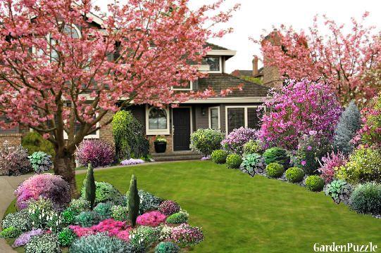 Garden Design Cherry Blossoms Spring Garden Design Front Yard Landscaping Design Front Yard Landscaping