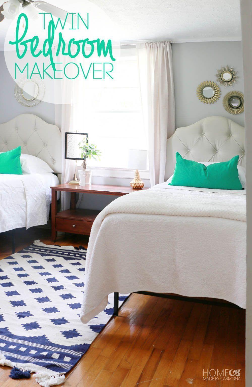 Twin bedroom makeover cute room for teens roomdecorforteens also teen home decor rh pinterest