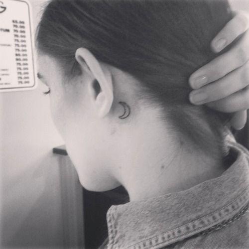 Moon Crescent Tattoo Ear Google Search Tattoo Tattoos Small