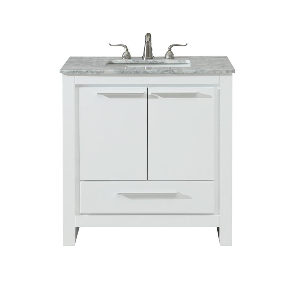 Elegent 30 Filipo Bathroom Vanity Color White White Carrara