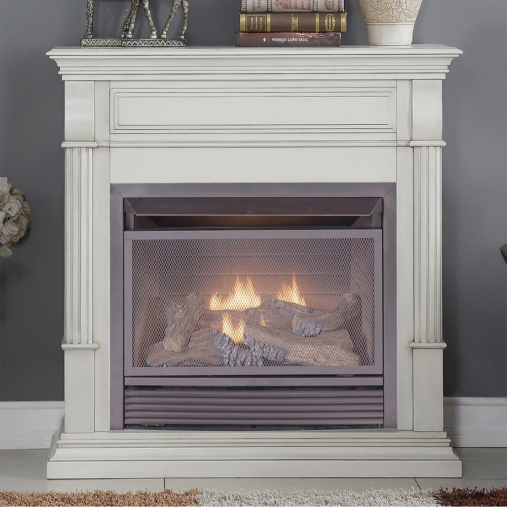 Duluth Forge 40 In Ventless Dual Fuel Gas Fireplace In Antique