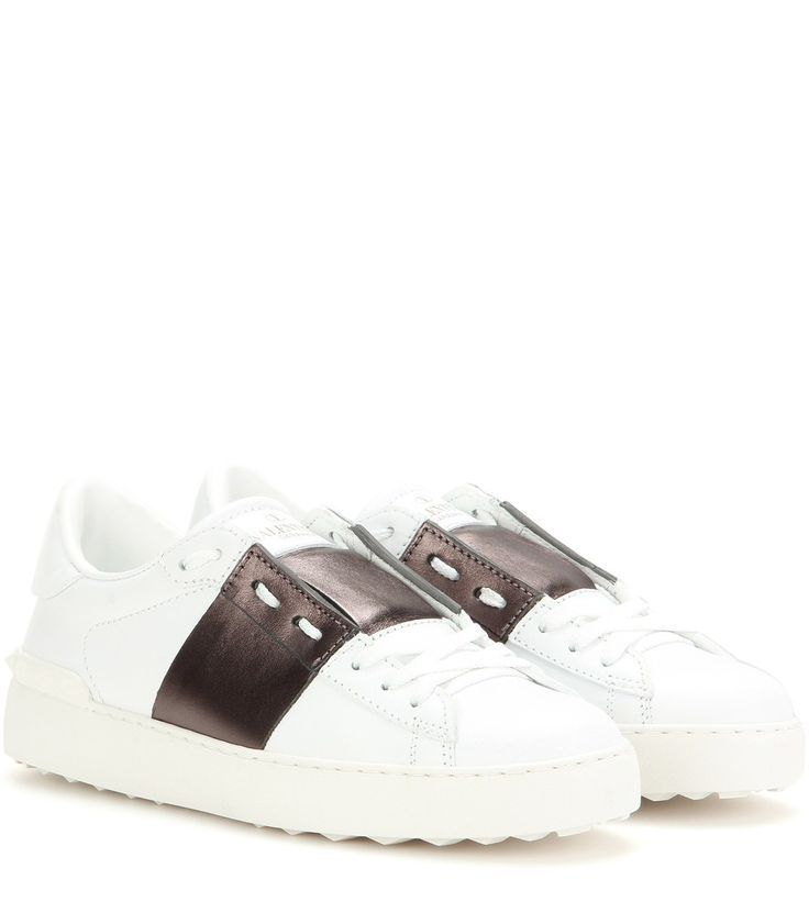 Valentino Open Leather Sneakers SpJt7