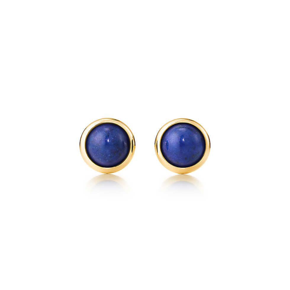 8869a5ecbe6 Elsa Peretti® Color by the Yard earrings in 18k gold with lapis lazuli.