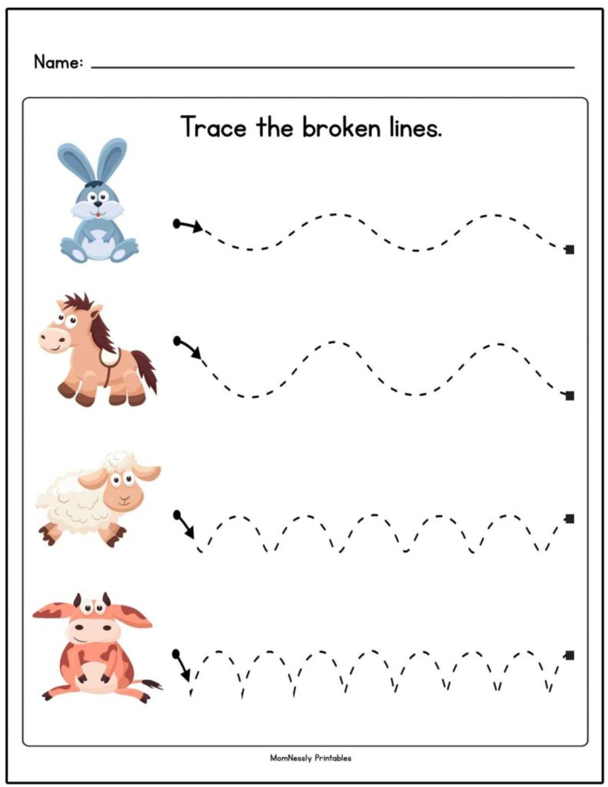 Tracing Lines Worksheets In