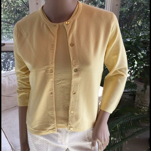 Soft yellow Tocca sweater set Pretty pale yellow sweater set. The ...