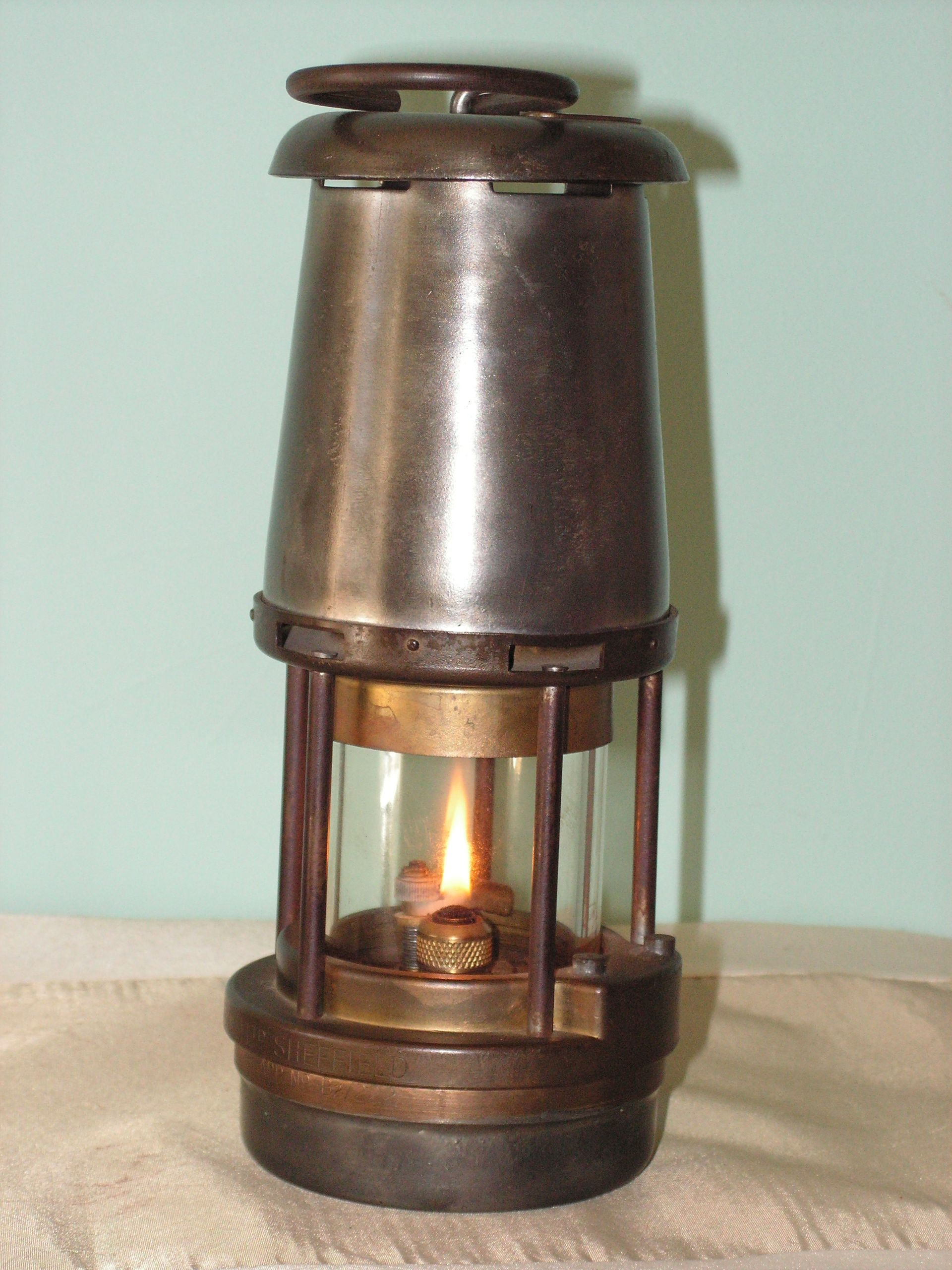 Wolf Lamp By The Wolf Safety Lamp Co Wm Maurice Ltd Sheffield Flame Is A Little Too High With Images Lantern Candle Holders Lamp Oil Lamps