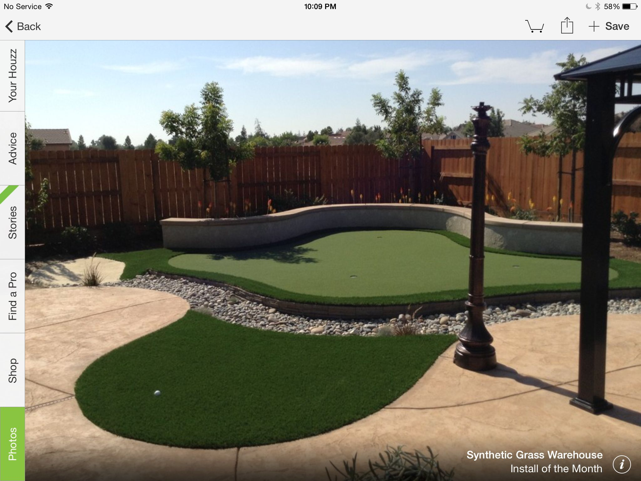 Golfing in your own backyard