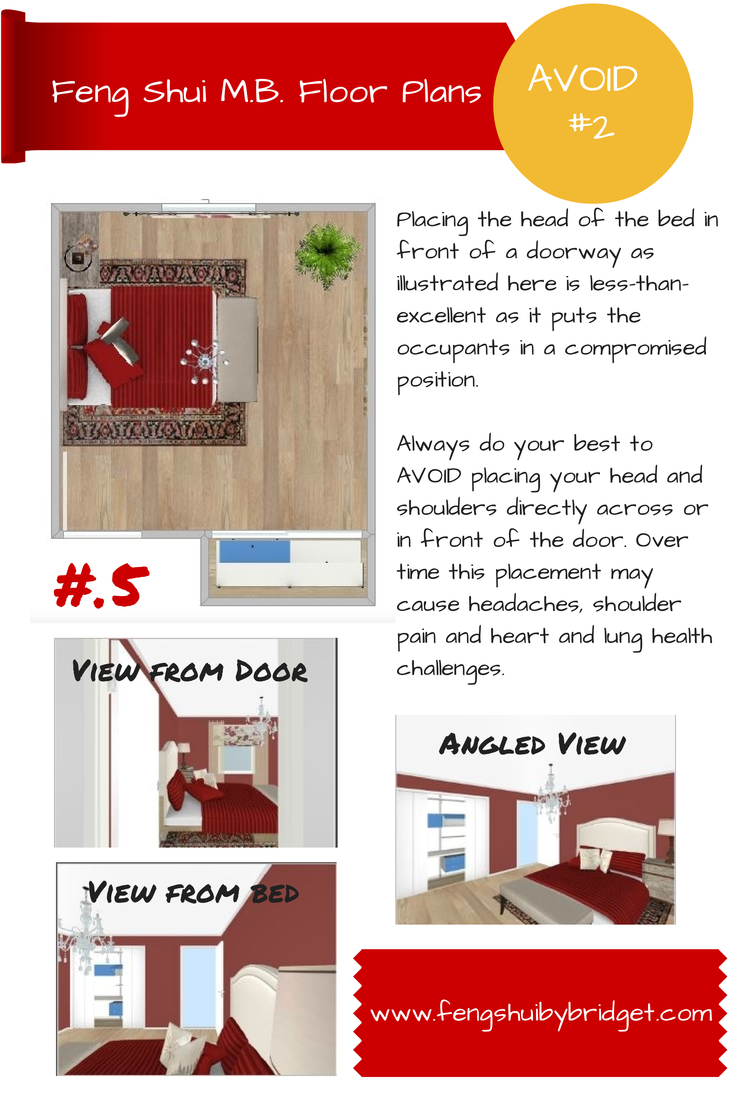 Less than excellent feng shui placing the head of the bed in less than excellent feng shui placing the head of the bed in front of a door as illustrated here is less than excellent as it puts the occupants in a rubansaba
