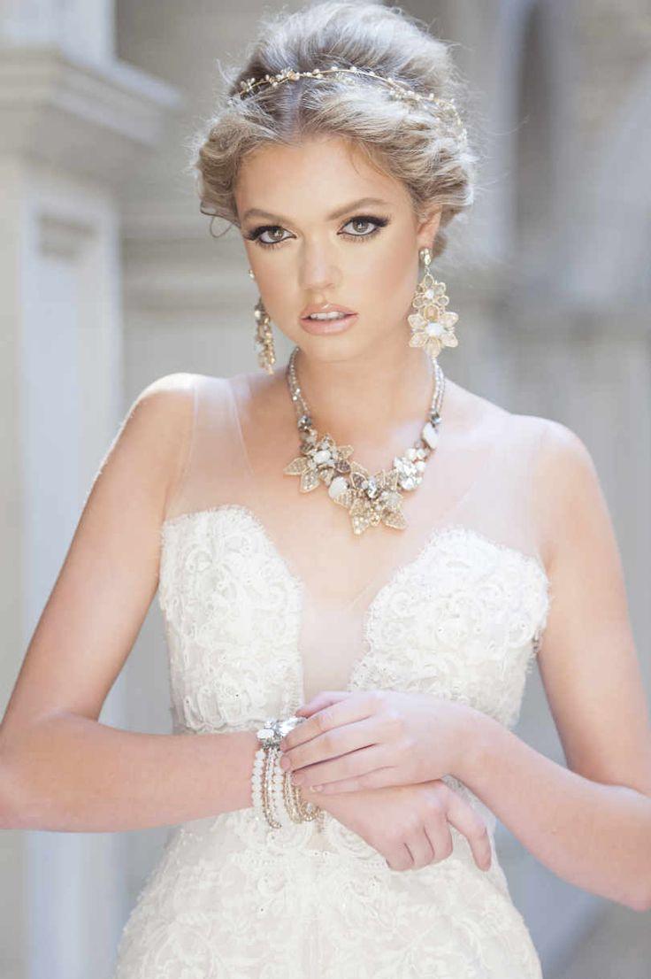 White gold wedding dress  gabytaangeles gabytaangeles  Pretty  Pinterest  Neutral Glamour