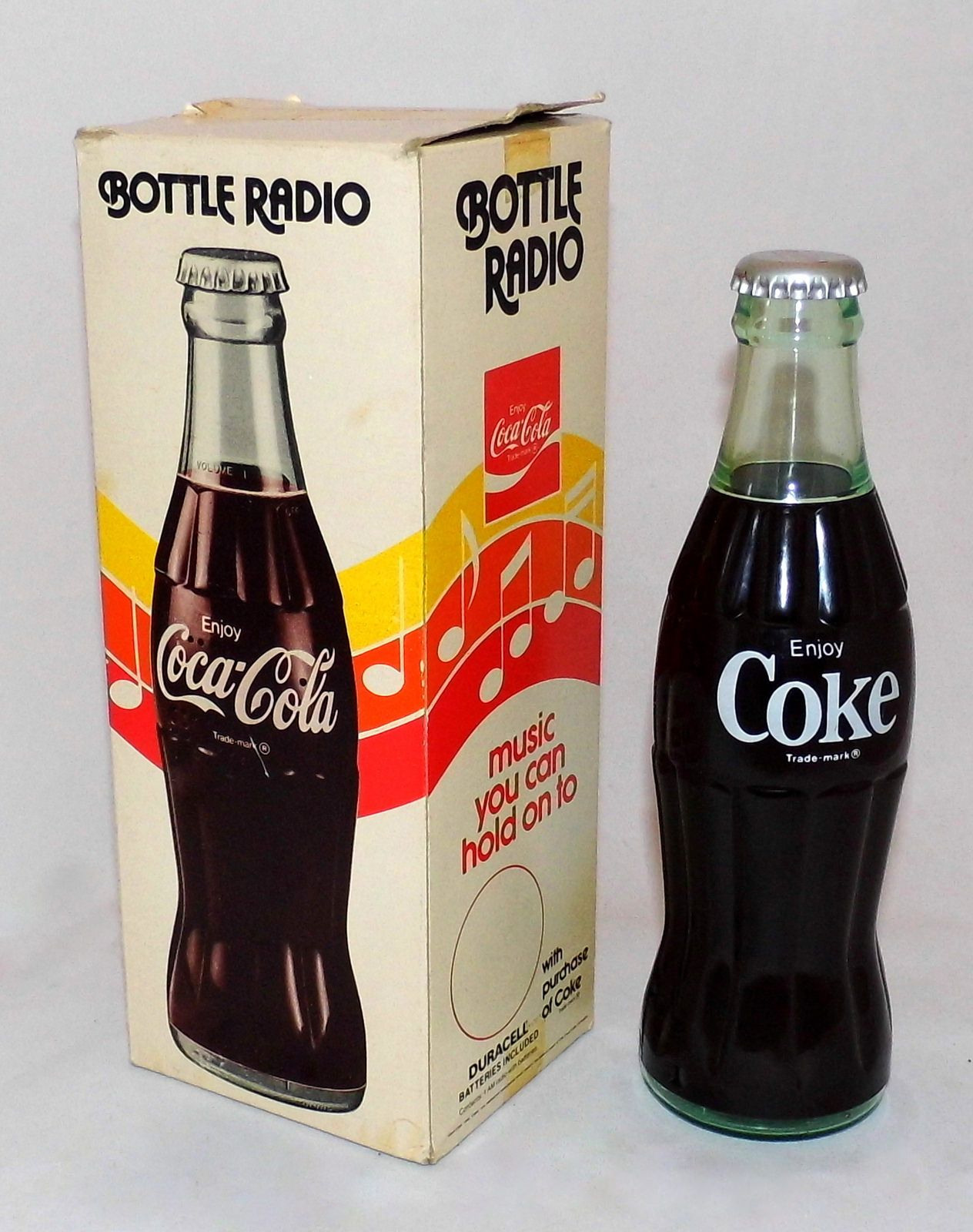 Vintage Coca Cola Bottle Novelty Radio, Am Band Only, A Promotional
