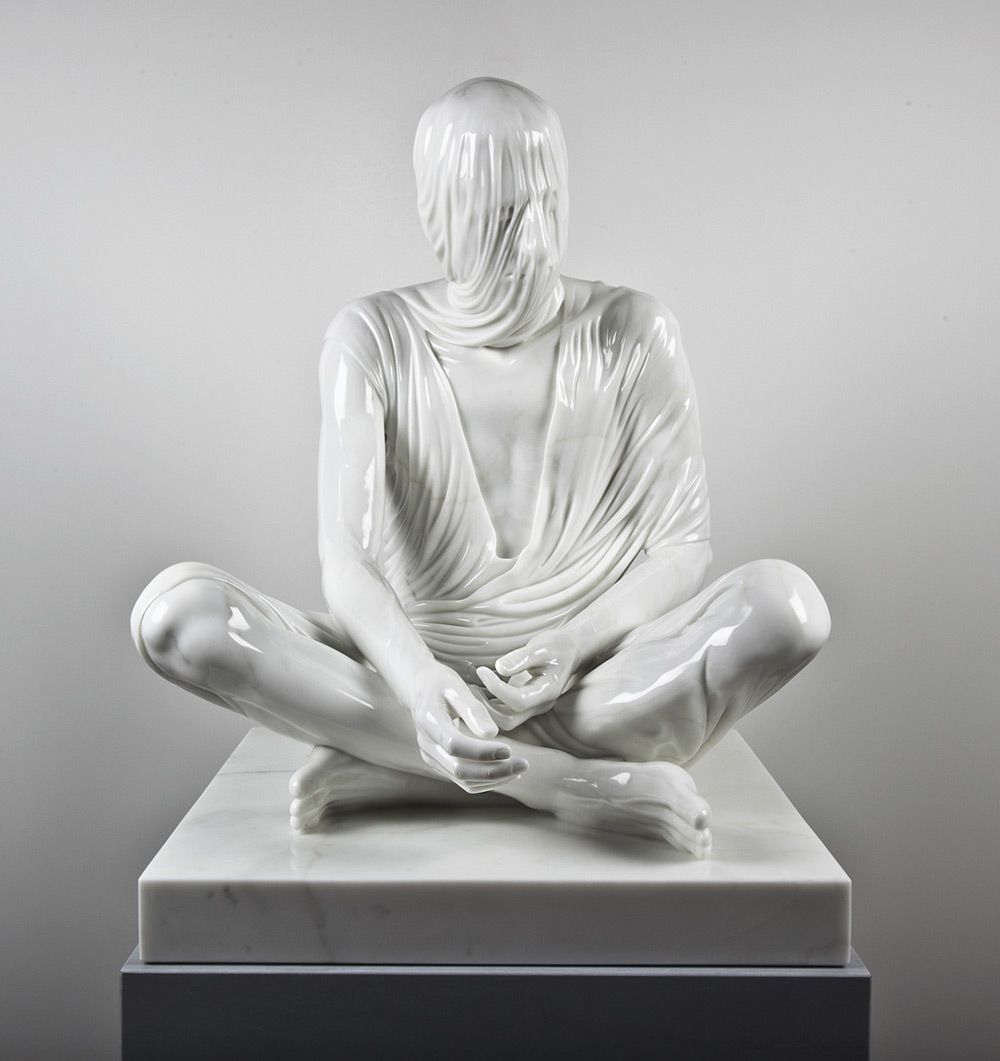 Temporal Sitter, 2011. Carrara Marble. 94 x 80 x 80 cm. Kevin Francis Gray. Picture 1 of 3.