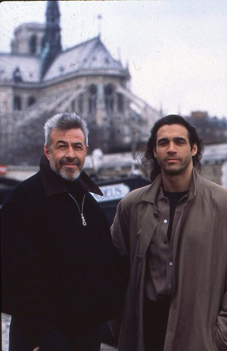 Jim Byrnes and Adrian Paul, a.k.a. Joe and Duncan, on location for Highlander