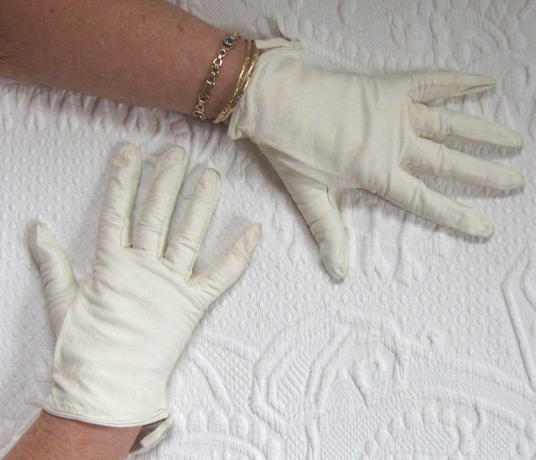 Vintage ladies leather opera gloves - Leather Gloves