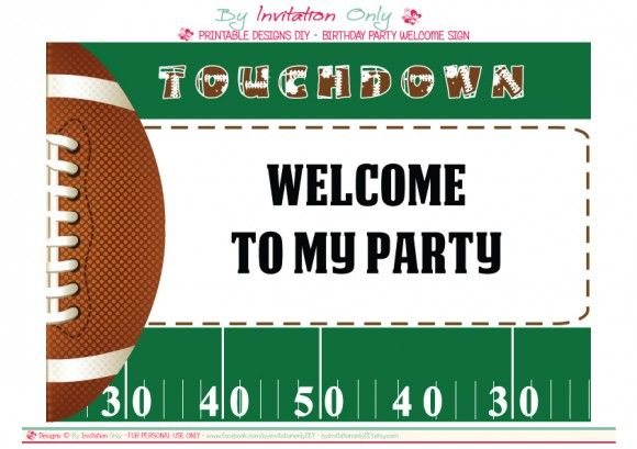 free football party printables from by invitation only diy