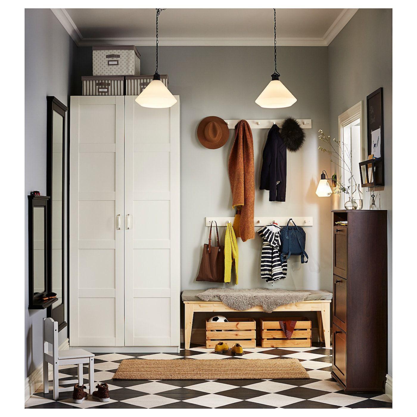 PAX Wardrobe white, Bergsbo white 39 3/8x23 5/8x93 1/8