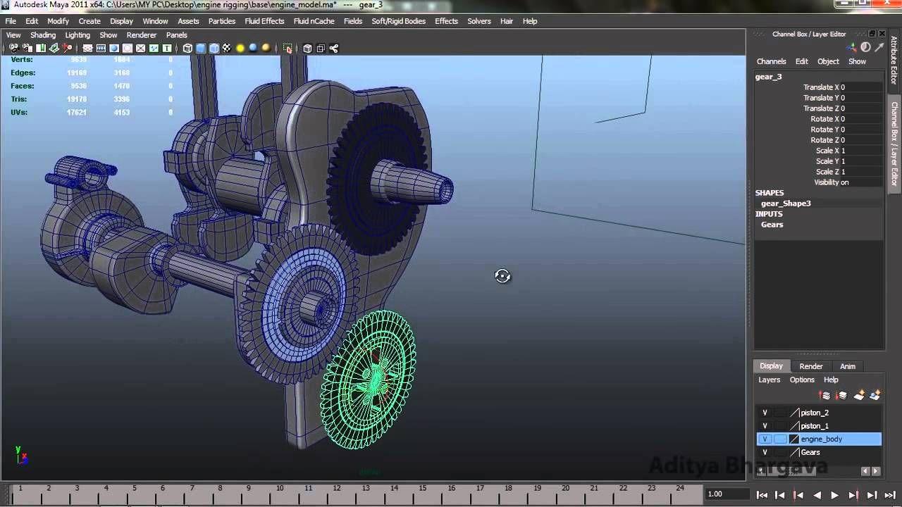 Engine Rigging Tutorial in Autodesk Maya | CG tuts, tips