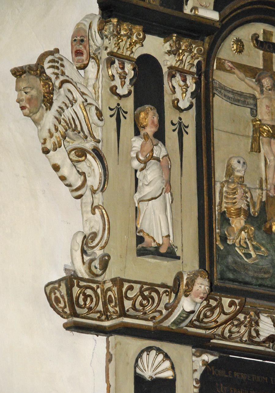 Людвиг Мюнстерманн, орнаментальный декор алтаря и кафедры церкви в Берне, Германия: uchitelj