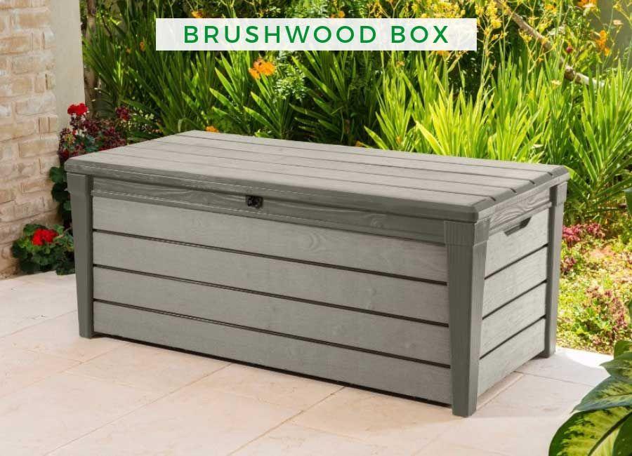 Garten Aufbewahrung Brushwood Box Aufbewahrung Garten Diy Terrasse Sitztruhe Holz