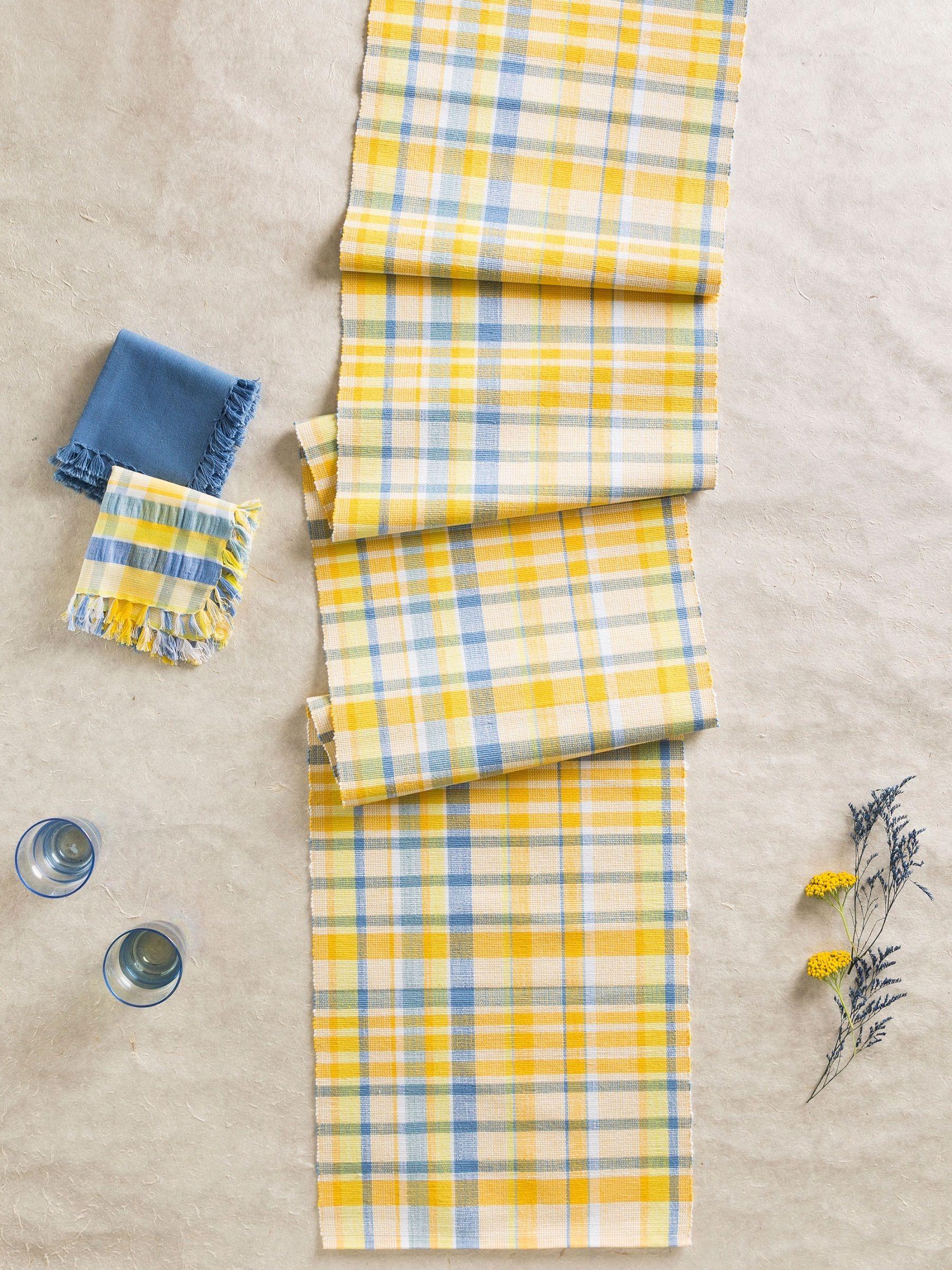 April Cornell Table Runner Provence Seerer Cotton Yellow Www Vintiqueflair