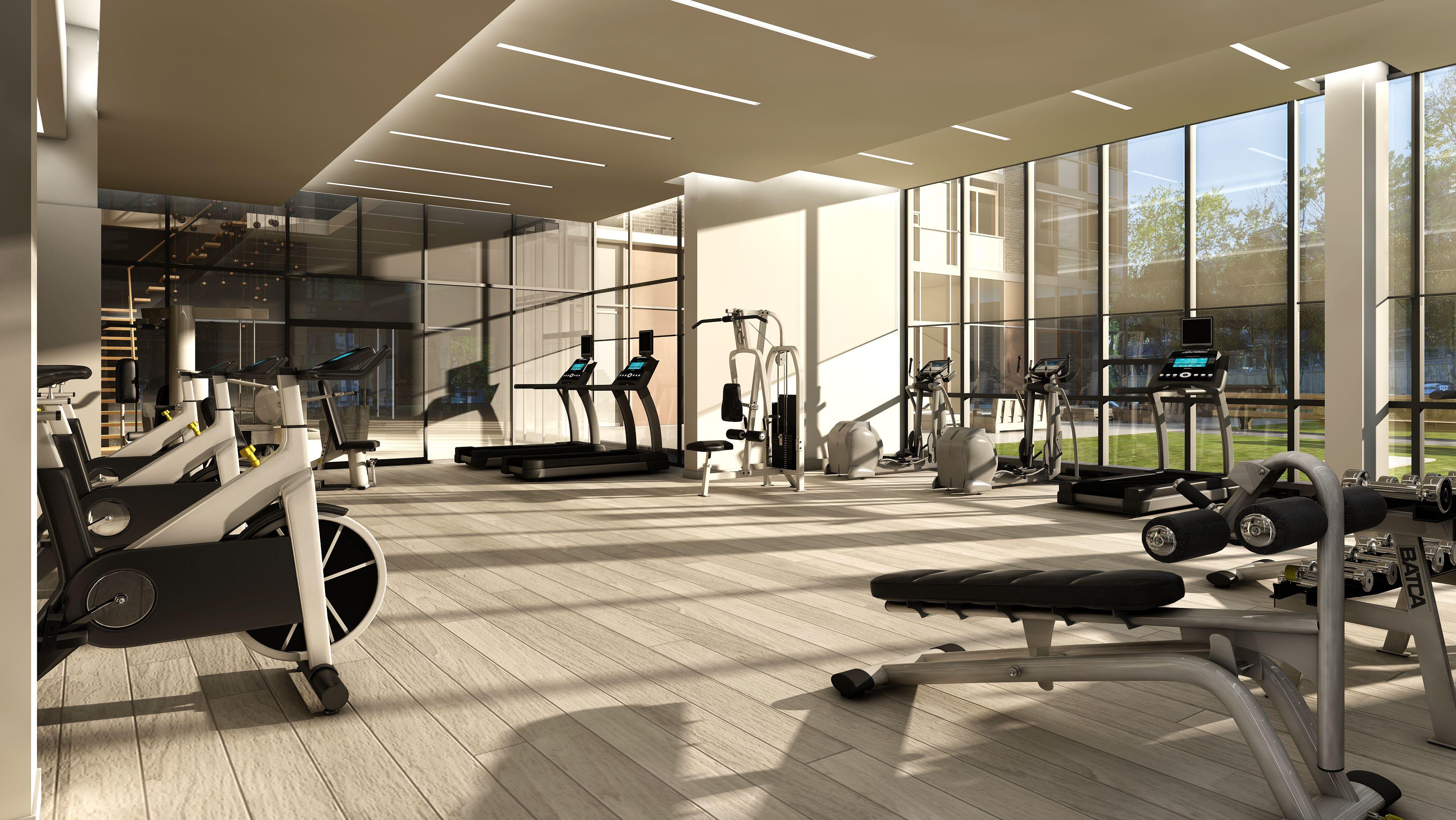 The Fitness Centre At 101 Erskine Gym Interior Gym Room Gym Design