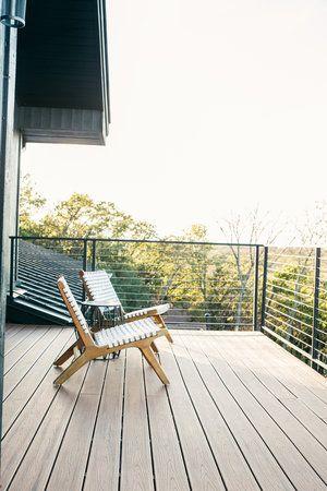 Mid century modern patio, modern lake house, modern deck ...