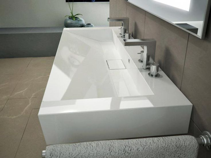 120cm Waschbecken Waschtisch Doppelwaschbecken Mit Ablaufabdeckung