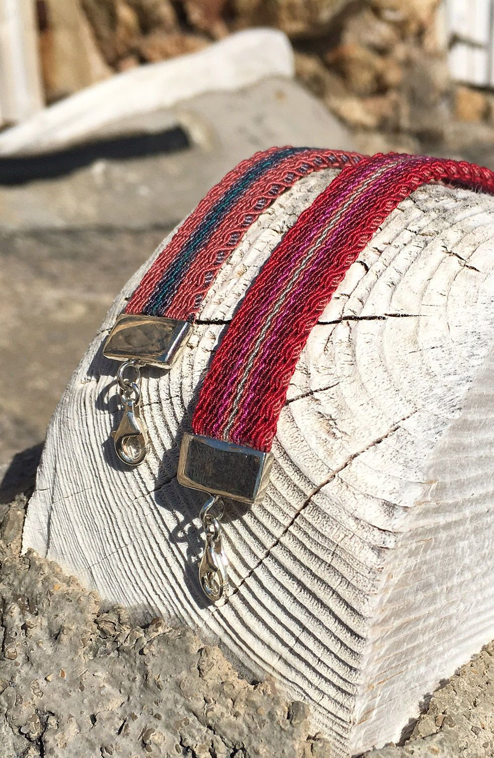 Lhoum handwoven jewelry for men and women made in silk and