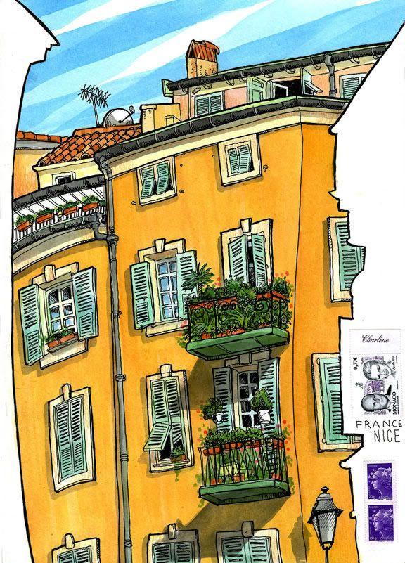 Tommy Kane's Art Blog: Streets Of Nice