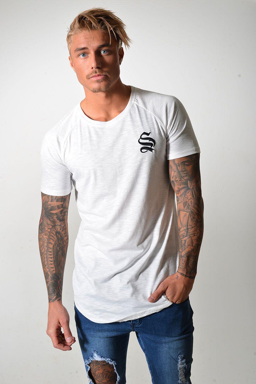 reputable site da7ac 3cdcd Camiseta blanca, fit largo Sinners Camisetas Blancas, Polo Hombre, Tiendas  De Ropa,