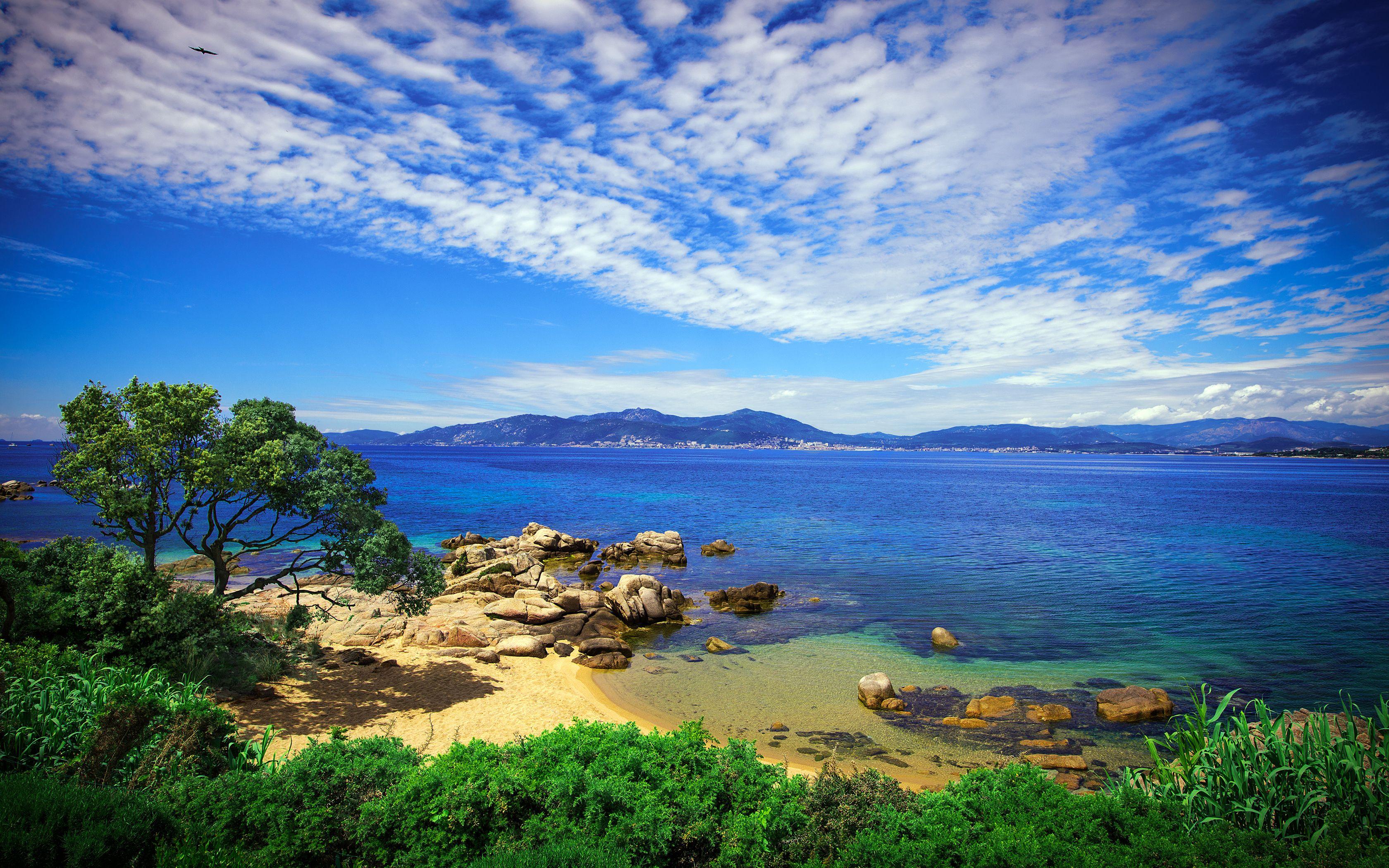 Corsica Beach Wallpaper Earth Pictures Beach Landscape