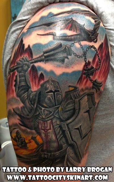 Templar Knights Tattoos Sleeves Half