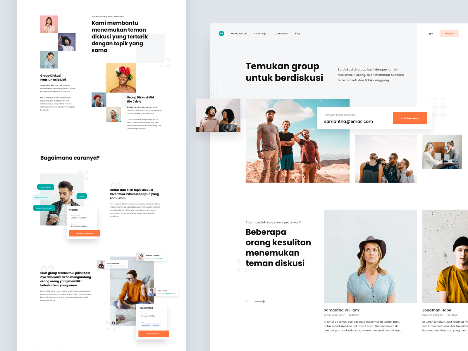 Landing Page - Group Discussions   Best landing pages, Find ...